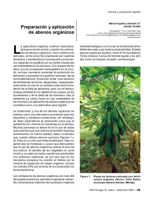 Ciencia y producción vegetalINIA Divulga 10 enero - diciembre 2007 / 29Preparación y aplicaciónde abonos orgánicosMaría An...