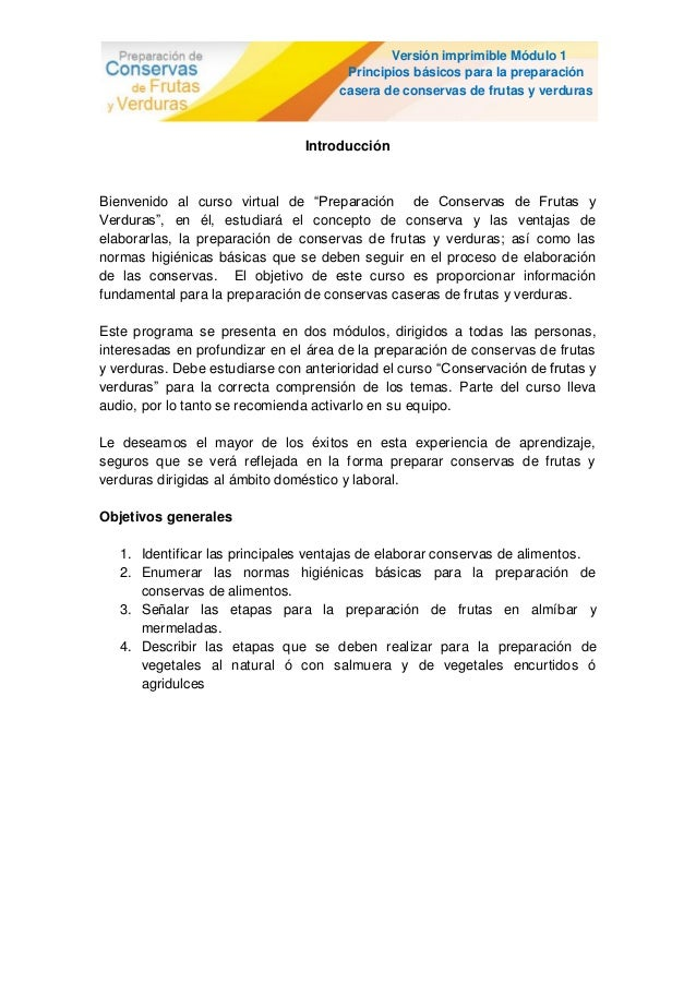 Versión imprimible Módulo 1                                       Principios básicos para la preparación                  ...