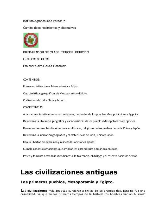 Instituto Agropecuario VeracruzCamino de conocimientos y alternativasPREPARADOR DE CLASE TERCER PERIODOGRADOS SEXTOSProfes...