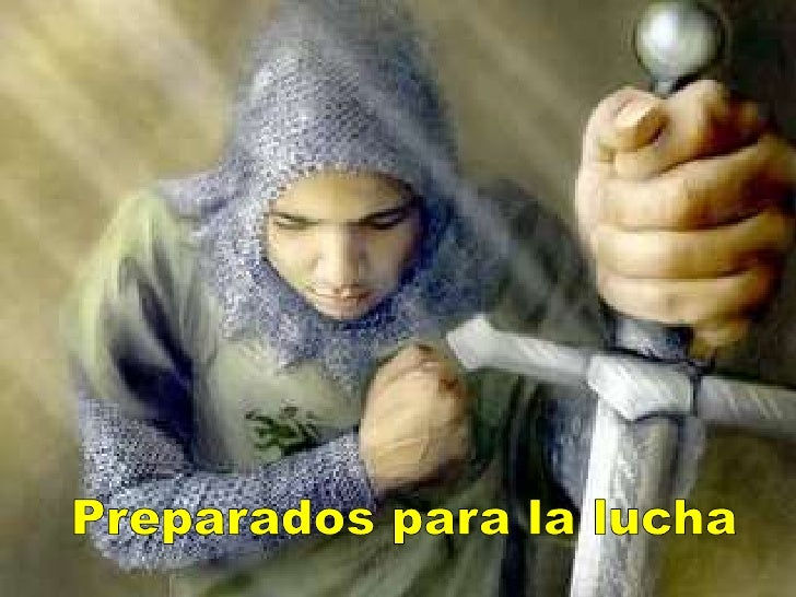 Usando el cinturón de la verdad, la coraza de  justicia, el calzado de la paz, el escudo de la     fe, el yelmo de la  sal...