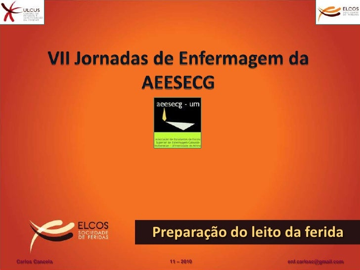 VII Jornadas de Enfermagem da AEESECG <br />Preparação do leito da ferida <br />Carlos Cancela                          ...