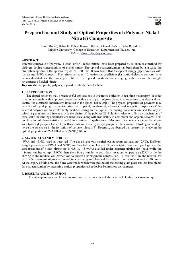 Advances in Physics Theories and Applications www.iiste.org ISSN 2224-719X (Paper) ISSN 2225-0638 (Online) Vol.20, 2013 15...
