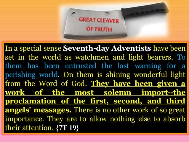 Image result for seventh day adventists great cleaver of truth