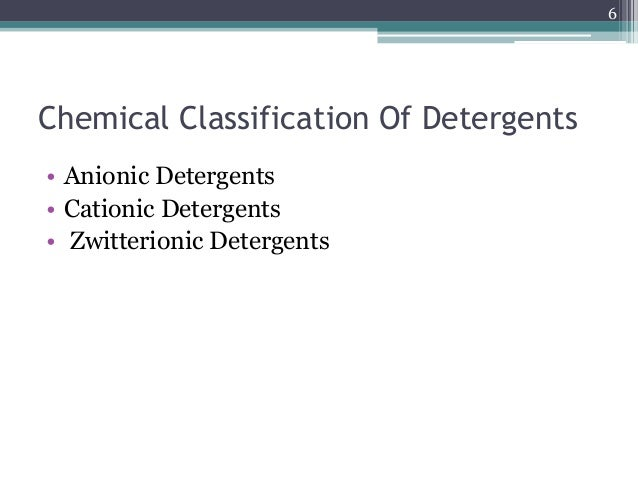 preparation of detergents A detergent is a surfactant or a mixture of surfactants with cleaning properties in  dilute solutions these substances are usually alkylbenzenesulfonates, a family.