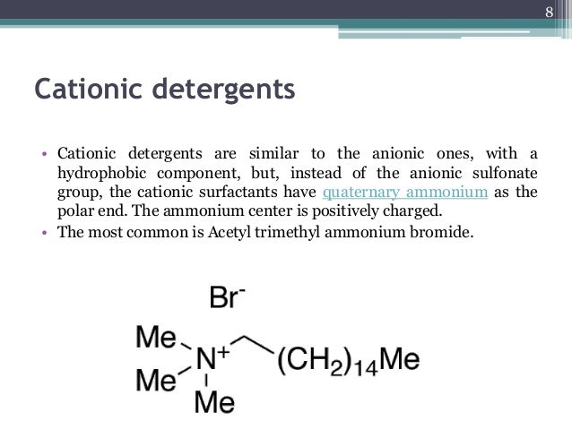 preparation of detergents Detergent classification there are four main classes of detergents, anionic, cationic, nonionic, amphoteric anionic detergents anionic means a negatively charged molecule.