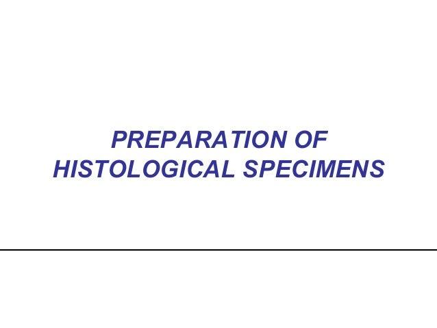 PREPARATION OF HISTOLOGICAL SPECIMENS
