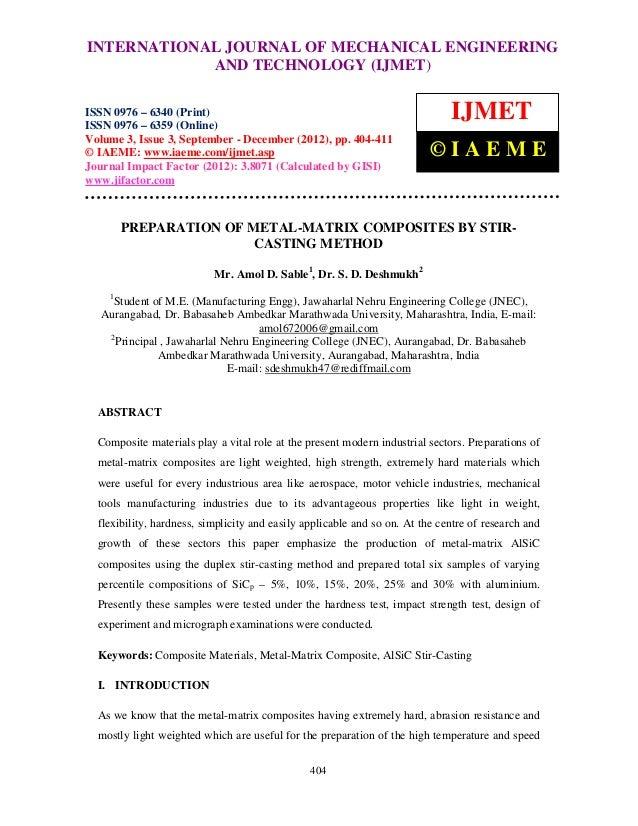 INTERNATIONAL Mechanical Engineering and Technology (IJMET), ISSN 0976 – International Journal of JOURNAL OF MECHANICAL EN...