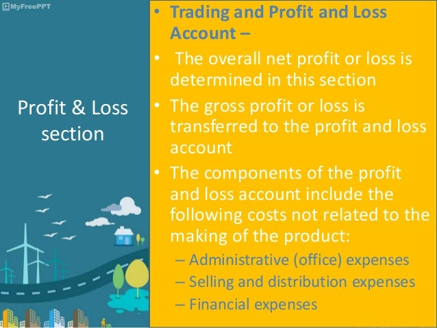 ... Financial Expenses; 4. Format Of The Trading And Profit And Loss ...  Preparing A Profit And Loss Statement