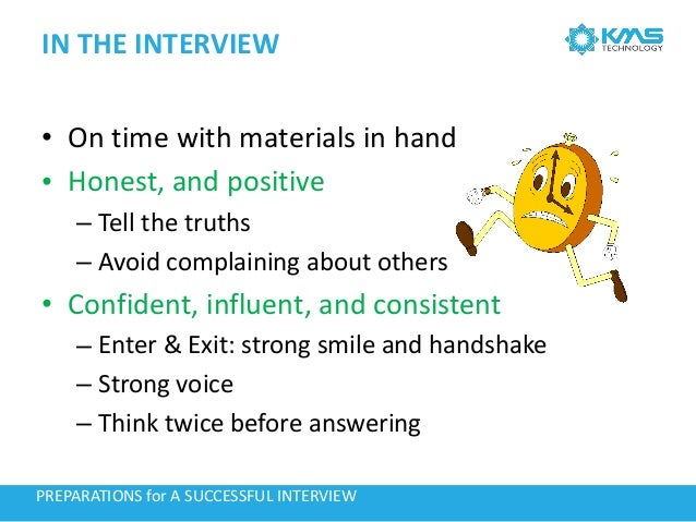 preparations for interview