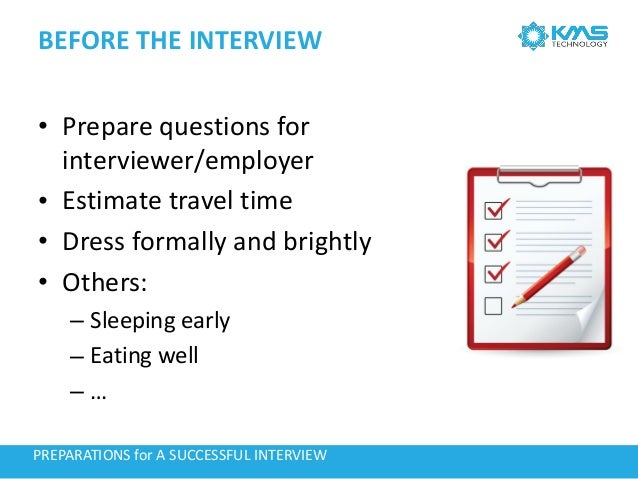Preparations For A Successful Interview