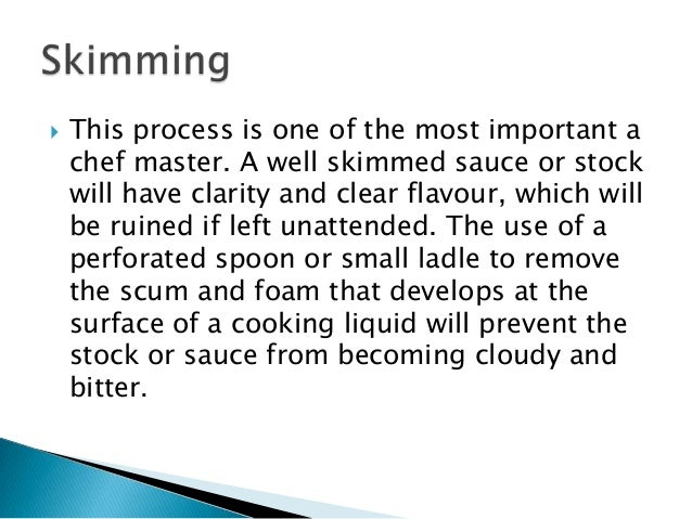 Preparation cooking and finishing essay