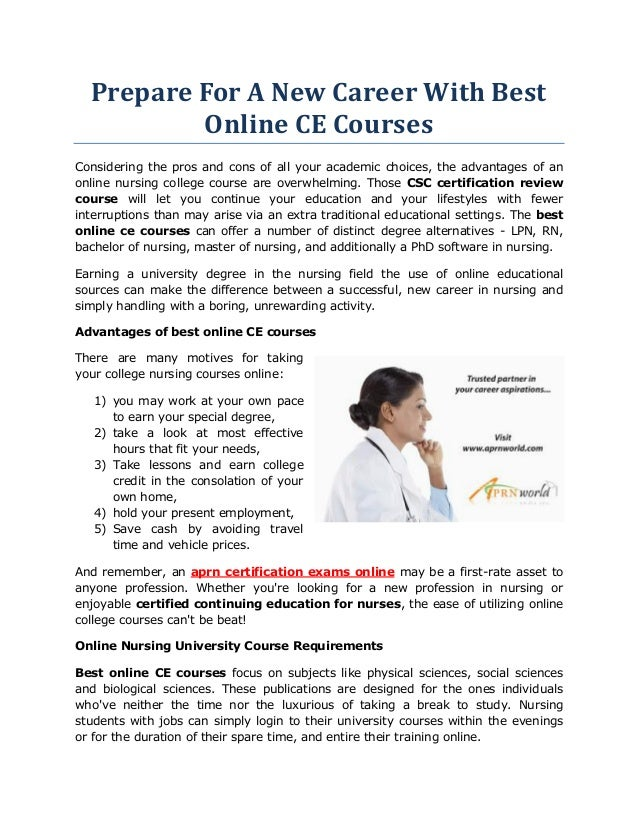 prepare for a new career with best online ce courses