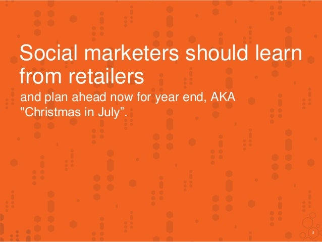 How To Prepare Your Social Programs For Christmas - NOW! Slide 3