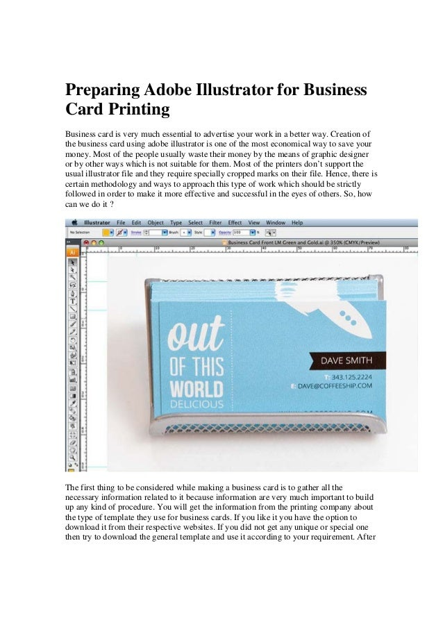 Preparing adobe illustrator for business card printing preparing adobe illustrator for business card printing business card is very much essential to advertise your reheart Image collections
