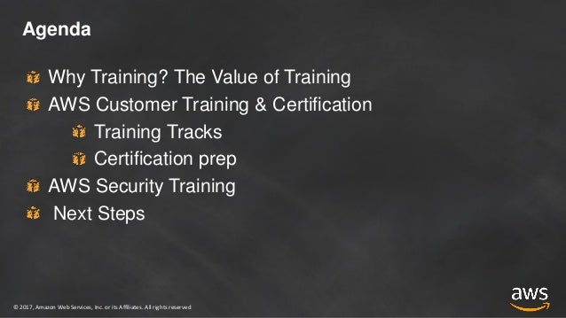 Preparing for AWS Certification/ Advanced Security Training Slide 2