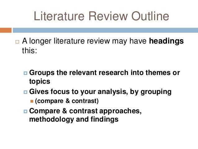 compare contrast literature review