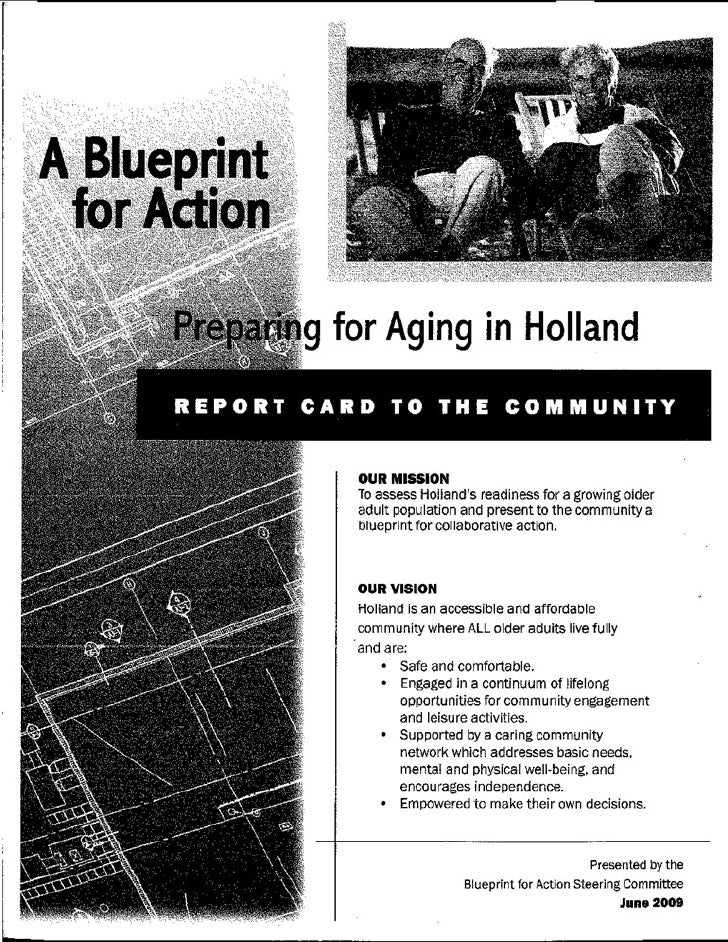 Preparing For Aging In Holland  Report Card To The Community090625
