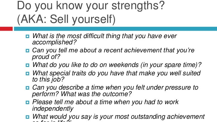 strengths for a job