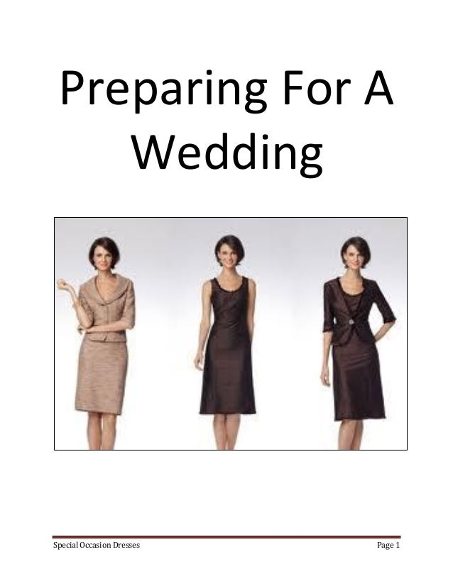 Preparing For A    WeddingSpecial Occasion Dresses   Page 1