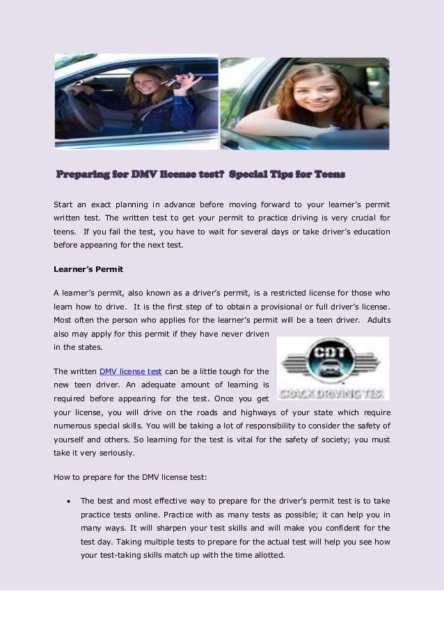 Preparing for DMV license test? Special Tips for Teens