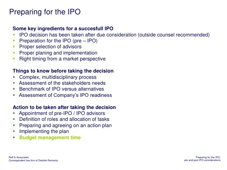 How to prepare for an ipo