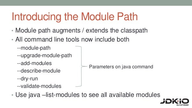 Preparing for java 9 modules upload