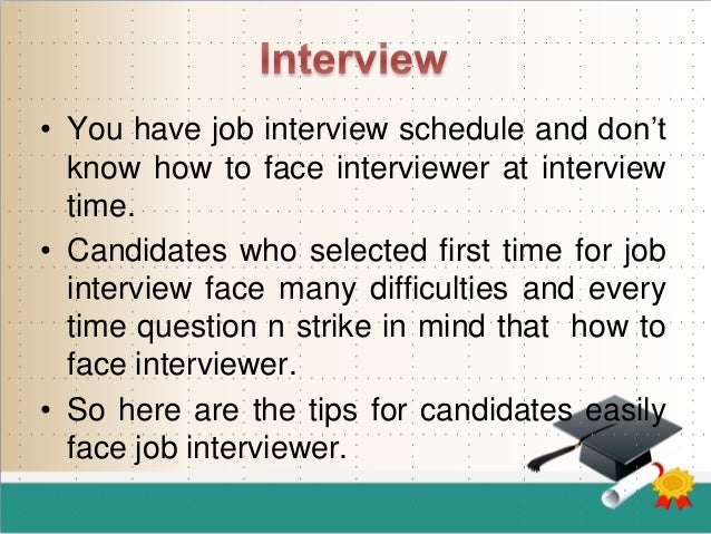 Marvelous SlideShare On First Interview Tips