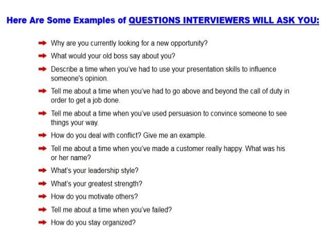 sample q and a for job interview Kenicandlecomfortzonecom