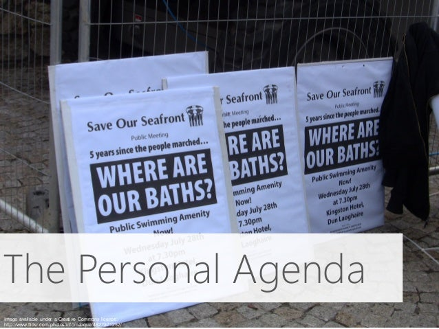 The Personal Agenda Image available under a Creative Commons licence: http://www.flickr.com/photos/infomatique/4827371257/