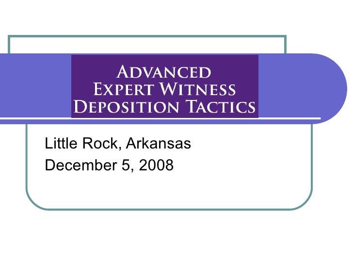 Little Rock, Arkansas December 5, 2008