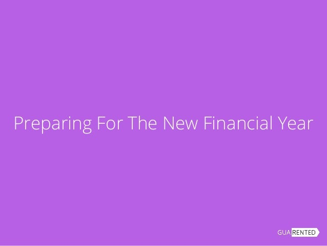 Preparing For The New Financial Year
