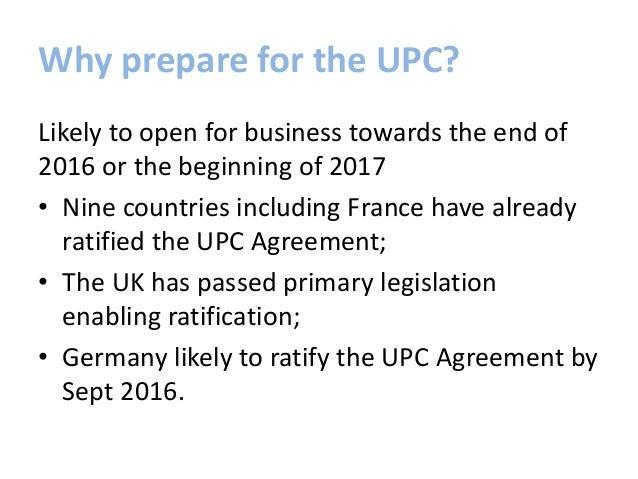 Preparing for the upc Slide 2