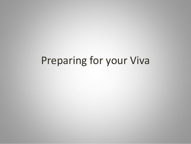 Preparing for your Viva