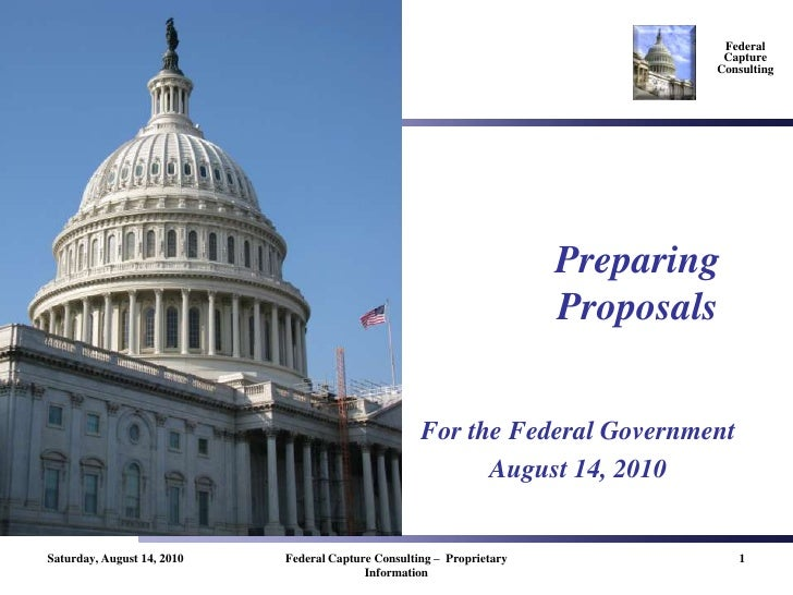 Preparing Proposals For The Federal Government   Fcc   20080910