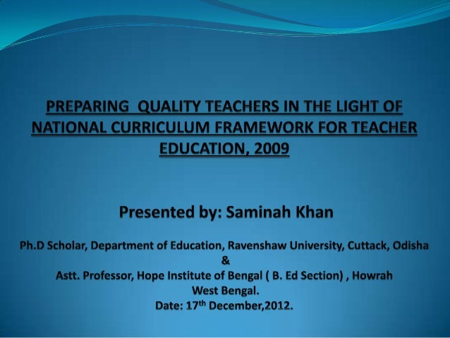 """Meaning of Teacher Education  National Council for Teacher Education  """"Teacher Education - A programme of education, resea..."""