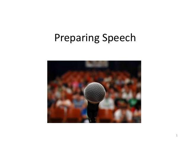 Preparing Speech1