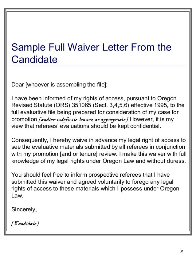 Should i waive right to see letter of recommendation roho4senses should i waive right to see letter of recommendation preparing tenure filesfordeptheadsofcmanagersstaffjan 152013 altavistaventures Gallery