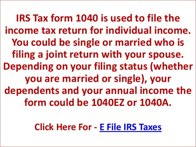 Preparing Your Irs Tax Form 1040