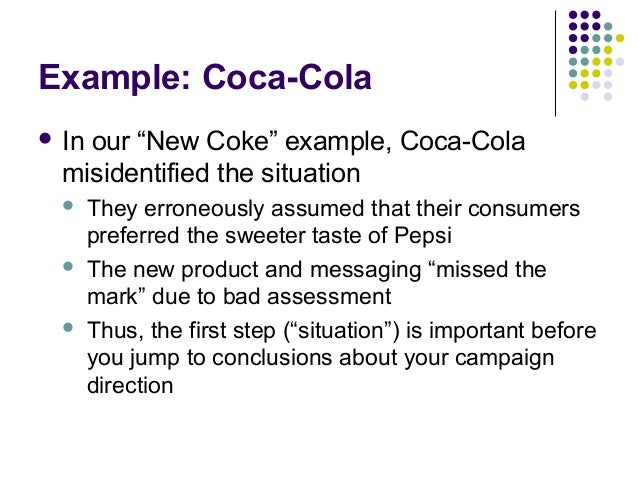situation analysis of pepsi Transcript of swot analysis of pepsi swot analysis of pepsico strengths one of pepsico's major strengths is their high market position other strengths are their brand, they are an international company, they have a variety of products.