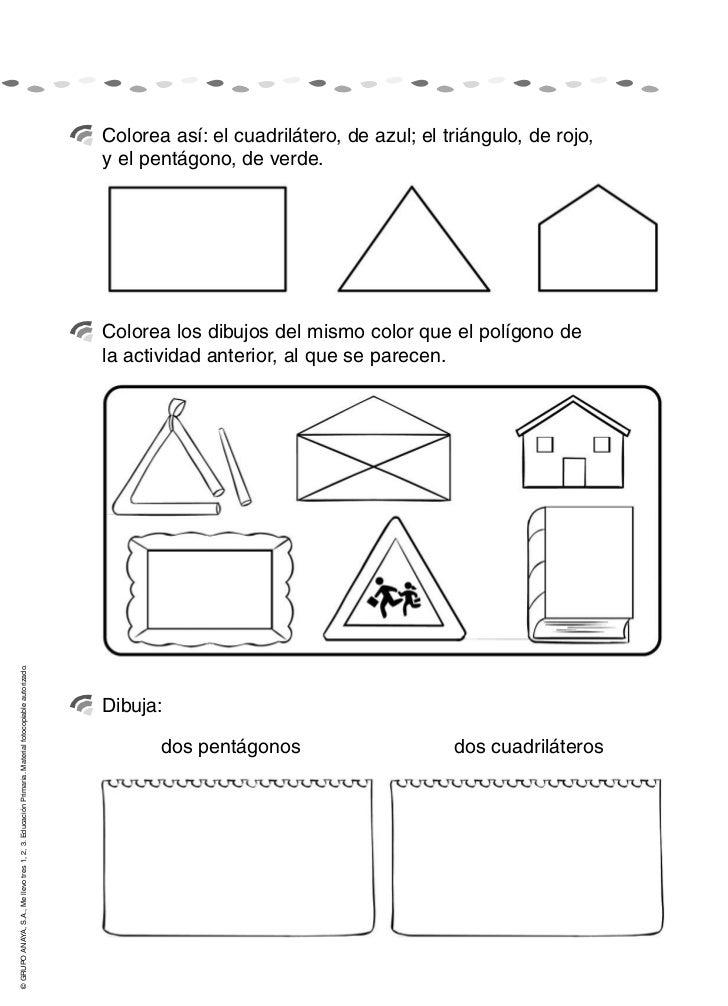 Resultado de imagen de ficha de poligonos para 2º de primaria