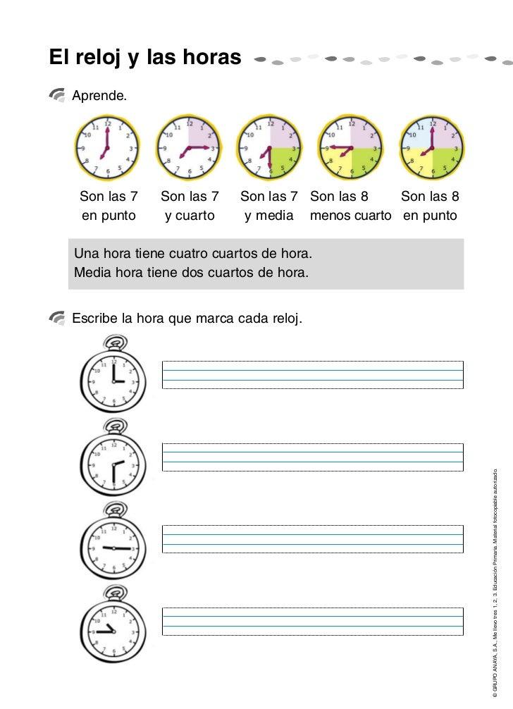 El reloj y las horas  Aprende.   Son las 7    Son las 7    Son las 7 Son las 8   Son las 8   en punto     y cuarto      y ...