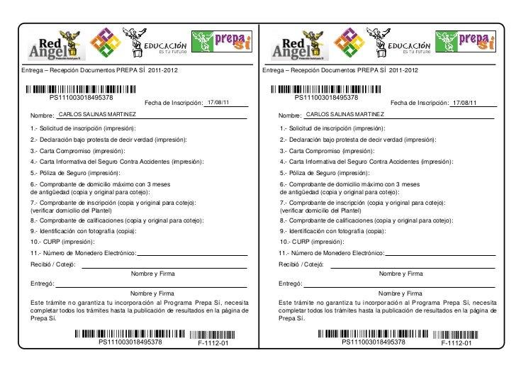 Entrega – Recepción Documentos PREPA SÍ 2011-2012                                   Entrega – Recepción Documentos PREPA S...