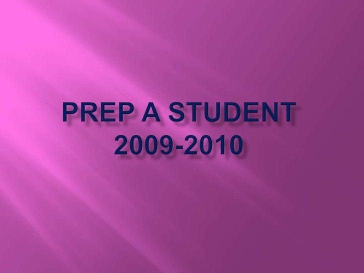 Prep A student2009-2010<br />