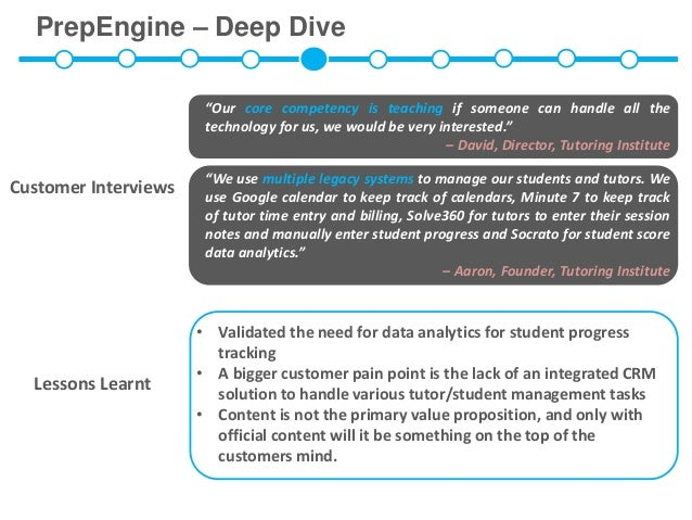 """PrepEngine – Deep Dive                       """"Our core competency is teaching if someone can handle all the               ..."""