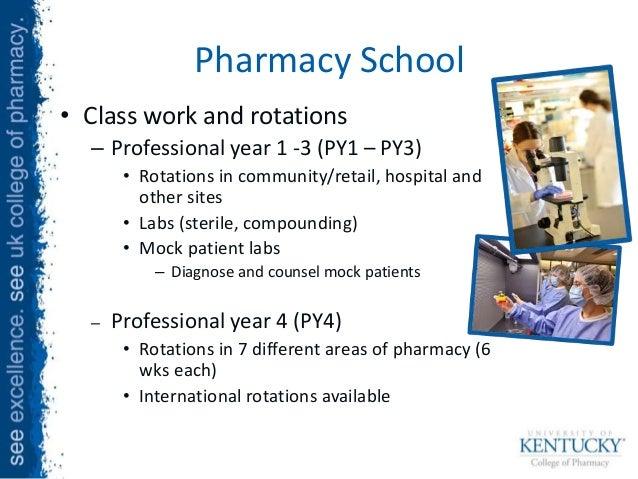 University of kentucky pre pharmacy coursework