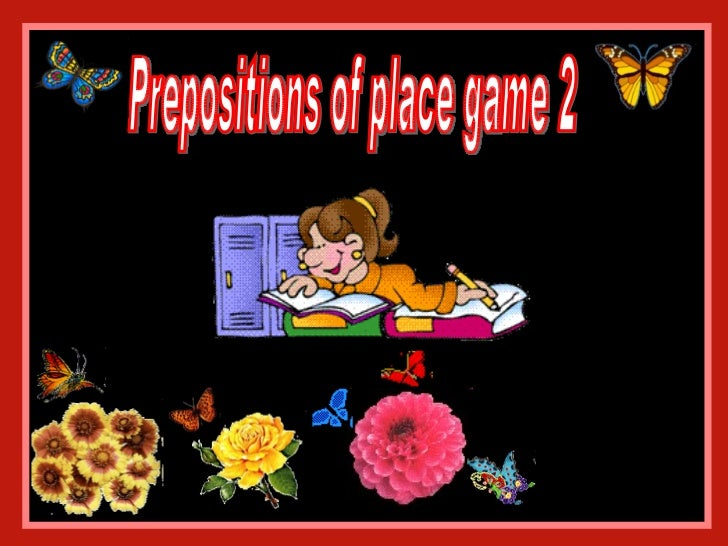 Prepositions of place game 2