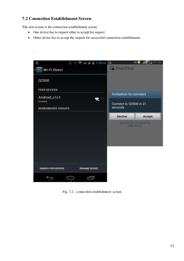 Wifi Direct Based Chat And File Transfer Android Application
