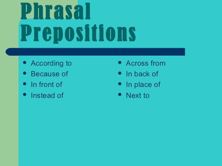 preposition 6 grade
