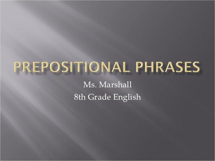 Ms. Marshall 8th Grade English