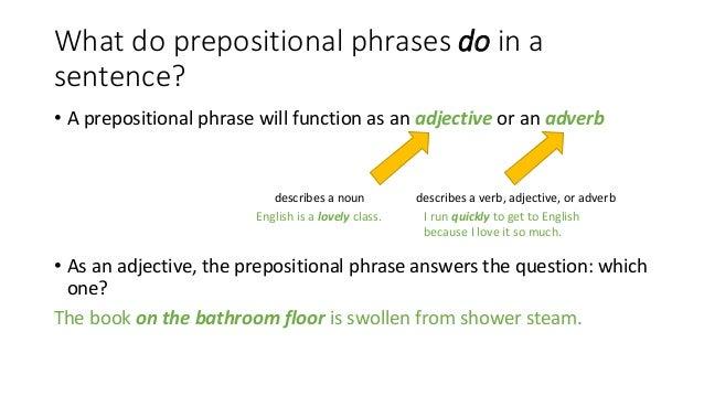 Prepositional Phrases – Prepositional Phrase Worksheet with Answers